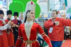 Ρωσικό αγροβιομηχανικό χρυσό φθινόπωρο έκθεσης Στοκ φωτογραφία με δικαίωμα ελεύθερης χρήσης