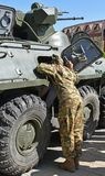 Ρωσικό αμφίβιο θωρακισμένο στρατιωτικό όχημα Στοκ φωτογραφίες με δικαίωμα ελεύθερης χρήσης