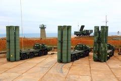 Ρωσικό αντιαεροπορικό πυραυλικό σύστημα μεγάλων και μεσαίας ακτίνας γ-400 Triumf στη Σεβαστούπολη Στοκ φωτογραφίες με δικαίωμα ελεύθερης χρήσης