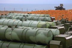 Ρωσικό αντιαεροπορικό πυραυλικό σύστημα μεγάλων και μεσαίας ακτίνας γ-400 Triumf στη Σεβαστούπολη Στοκ εικόνα με δικαίωμα ελεύθερης χρήσης