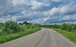 Ρωσικό βόρειο χωριό Matigory Στοκ εικόνες με δικαίωμα ελεύθερης χρήσης