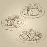 Ρωσικό εθνικό παραδοσιακό cutlet Κίεβο κουζινών και οι μαγειρευμένες πατάτες, ρόλοι λάχανων, γέμισαν το λάχανο Στοκ φωτογραφίες με δικαίωμα ελεύθερης χρήσης