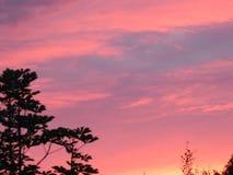 Ρωσικό ηλιοβασίλεμα βραδιού Στοκ φωτογραφία με δικαίωμα ελεύθερης χρήσης