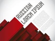 Ρωσικό κόκκινο σχεδιαγράμματος Στοκ Φωτογραφίες