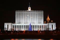 ρωσικό λευκό σπιτιών Στοκ Εικόνες