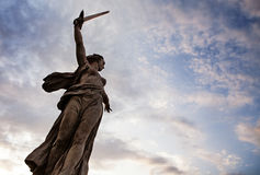 Ρωσικό μνημείο Δεύτερου Παγκόσμιου Πολέμου Kurgan Mamaev Στοκ Φωτογραφίες