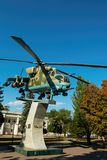 Ρωσικό μνημείο Mi - 24 ελικοπτέρων Στοκ φωτογραφία με δικαίωμα ελεύθερης χρήσης