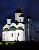 Ρωσικό μοναστήρι το βράδυ Στοκ εικόνες με δικαίωμα ελεύθερης χρήσης