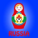 Ρωσικό να τοποθετηθεί matryoshka κουκλών Στοκ εικόνα με δικαίωμα ελεύθερης χρήσης