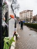 Ρωσικό πένθος πρεσβειών προξενείων των θυμάτων της πυρκαγιάς σε Zimnyay Στοκ φωτογραφίες με δικαίωμα ελεύθερης χρήσης