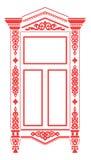 ρωσικό παραδοσιακό παράθ&ups Στοκ εικόνα με δικαίωμα ελεύθερης χρήσης