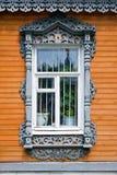 ρωσικό παραδοσιακό παράθ&ups στοκ εικόνες με δικαίωμα ελεύθερης χρήσης