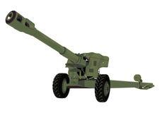 Ρωσικό πυροβόλο στοκ εικόνα
