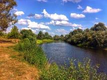 ρωσικό πλάνο ποταμών έκθεσης μακρύ Στοκ φωτογραφίες με δικαίωμα ελεύθερης χρήσης