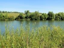 ρωσικό πλάνο ποταμών έκθεσης μακρύ Στοκ Εικόνα