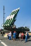 Ρωσικό σύγχρονο αυτοπροωθούμενο μεσαίας ακτίνας εδάφους-αέρος πυραυλικό σύστημα buk-τετρ.μέτρο Στοκ Εικόνες