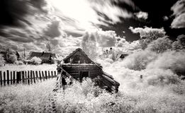 Ρωσικό του χωριού τοπίο β W Στοκ Εικόνα