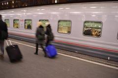 Ρωσικό τραίνο Στοκ εικόνα με δικαίωμα ελεύθερης χρήσης