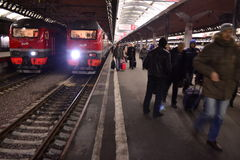 Ρωσικό τραίνο Στοκ Εικόνα