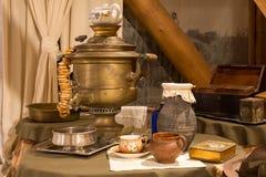 Ρωσικό τσάι παράδοσης Στοκ εικόνα με δικαίωμα ελεύθερης χρήσης