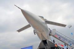 Ρωσικό υπερηχητικό αεροπλάνο Tupolev TU-144 Στοκ φωτογραφία με δικαίωμα ελεύθερης χρήσης