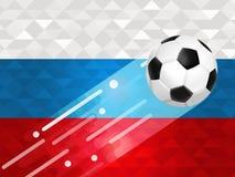 Ρωσικό υπόβαθρο σφαιρών ποδοσφαίρου για το γεγονός της Ρωσίας Στοκ Εικόνα