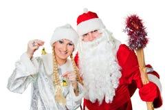 ρωσικό χιόνι κοριτσιών παγ&eps Στοκ Φωτογραφία