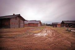 Ρωσικό χωριό Στοκ εικόνα με δικαίωμα ελεύθερης χρήσης