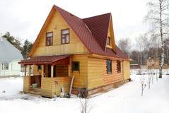 ρωσικό χωριό standart σπιτιών Στοκ Φωτογραφίες