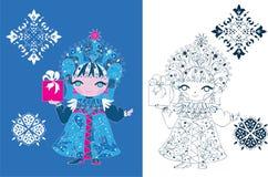 Ρωσικό ύφος κοριτσιών χιονιού Στοκ εικόνες με δικαίωμα ελεύθερης χρήσης