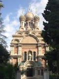 ρωσικό sanremo εκκλησιών Στοκ φωτογραφία με δικαίωμα ελεύθερης χρήσης