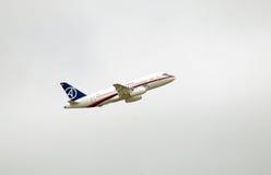 ρωσικό sukhoi 100 αεροπλάνων superjet Στοκ Φωτογραφίες