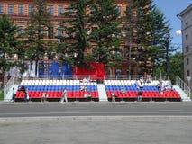 Ρωσικό tricolor Στοκ φωτογραφία με δικαίωμα ελεύθερης χρήσης