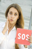 ρωτά τη γυναίκα επιχειρησ& Στοκ εικόνα με δικαίωμα ελεύθερης χρήσης