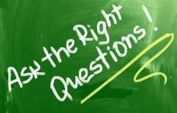 Ρωτήστε τη σωστή έννοια ερωτήσεων Στοκ φωτογραφίες με δικαίωμα ελεύθερης χρήσης