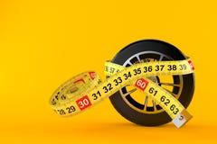 Ρόδα αυτοκινήτων με το εκατοστόμετρο διανυσματική απεικόνιση