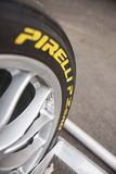 ρόδα μηδέν αγώνα pirelli π Στοκ Εικόνες