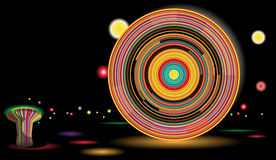 ρόδα πάρκων νύχτας ferris διασκέ&delta διανυσματική απεικόνιση