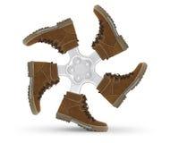 ρόδα παπουτσιών Στοκ εικόνα με δικαίωμα ελεύθερης χρήσης