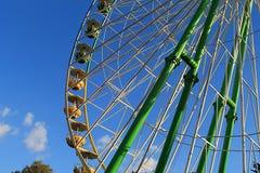 Ρόδα παρατήρησης σε ένα λούνα παρκ στοκ εικόνες με δικαίωμα ελεύθερης χρήσης