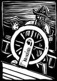 ρόδα πειρατών διανυσματική απεικόνιση