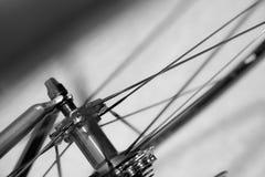 Ρόδα ποδηλάτων στην κίνηση ως αφηρημένο υπόβαθρο στοκ φωτογραφία