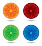 ρόδα προτύπων χρώματος διανυσματική απεικόνιση