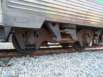 Ρόδα της αναστολής τραίνων και σιδηροδρόμου Στοκ φωτογραφία με δικαίωμα ελεύθερης χρήσης