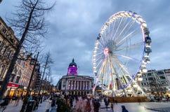 Ρόδα του Νόττιγχαμ στο παλαιό τετράγωνο αγοράς στοκ εικόνα με δικαίωμα ελεύθερης χρήσης