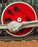 Ρόδα του τραίνου ατμού Στοκ Φωτογραφία