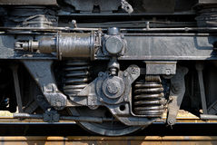 ρόδα τρακτέρ σιδηροδρόμων diesel Στοκ Φωτογραφίες