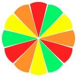 ρόδα φετών καρπού χρώματος ελεύθερη απεικόνιση δικαιώματος
