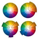 ρόδα χρώματος διανυσματική απεικόνιση
