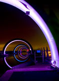 Ρόδα Falkirk τη νύχτα Στοκ φωτογραφία με δικαίωμα ελεύθερης χρήσης